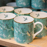 Chinese wallpaper china mug - blue or cream
