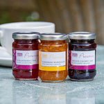 Mini preserves tasting trio