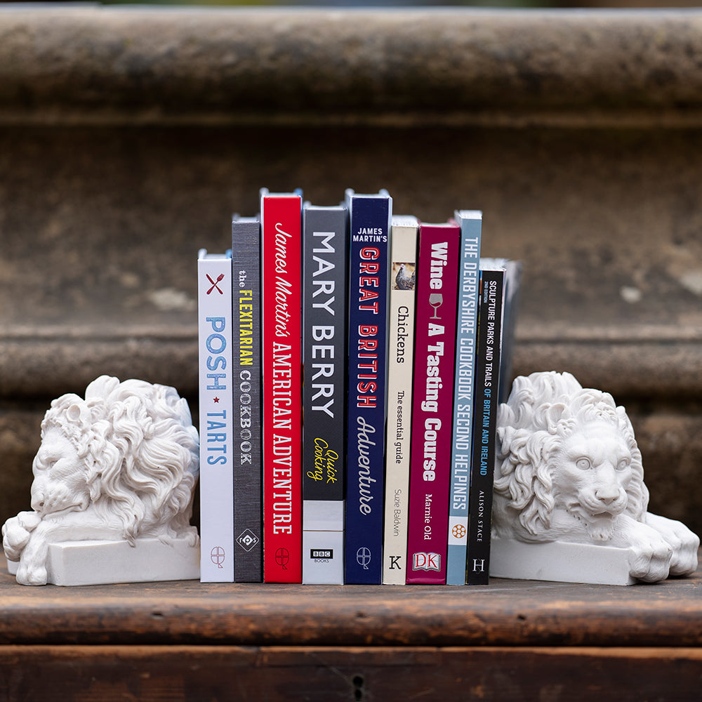 Chatsworth lion bookends