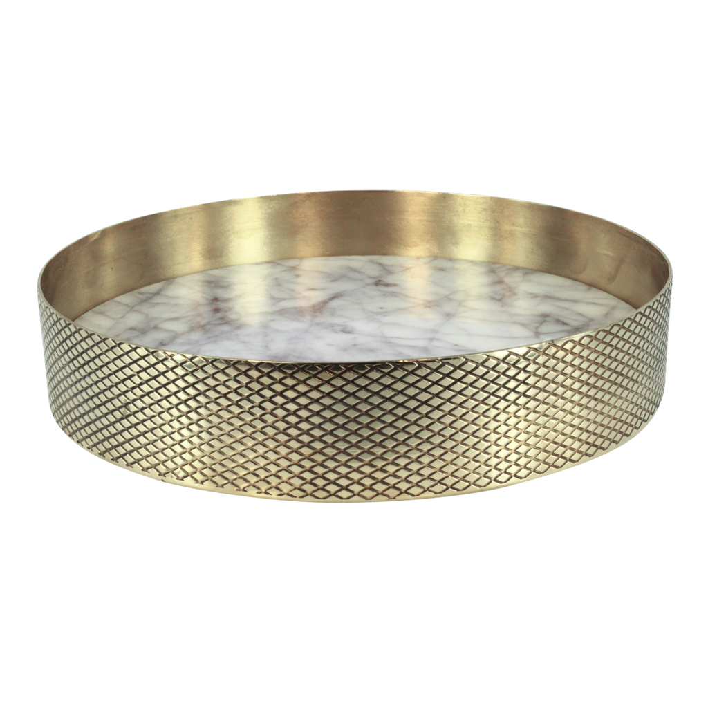 Brass & Marble Tray - Small