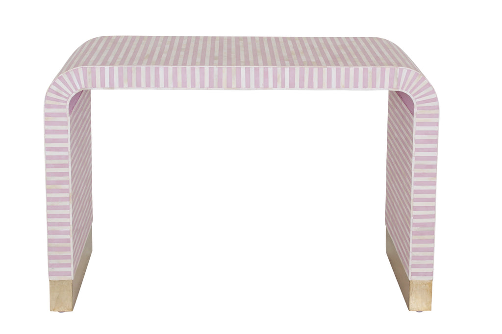Inlay Waterfall Console - Pink