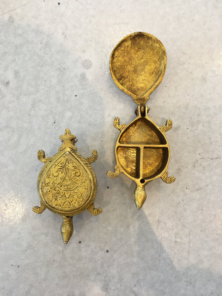 Brass Turtle Keepsake from India