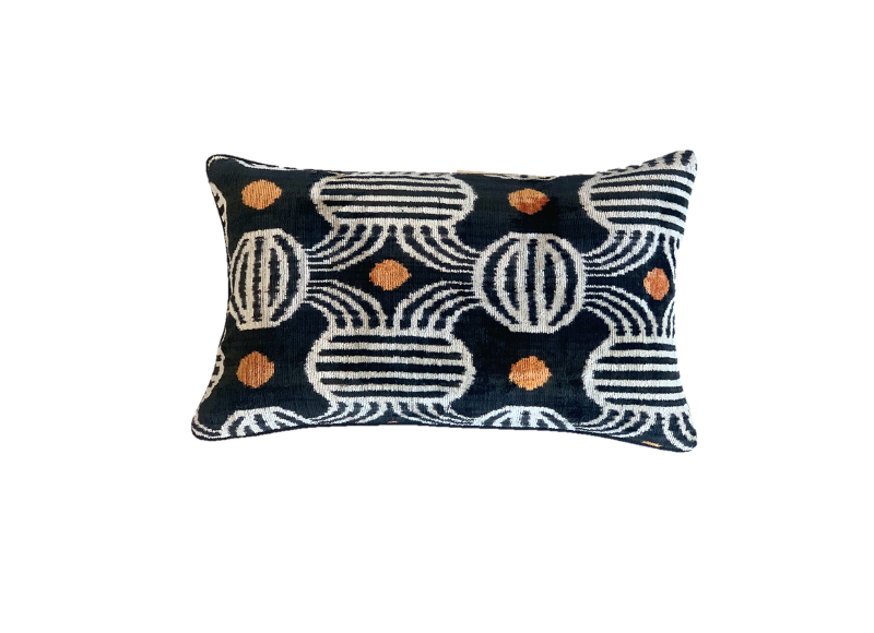 Nobu Cushion - Silk Velvet - Great Gatsby