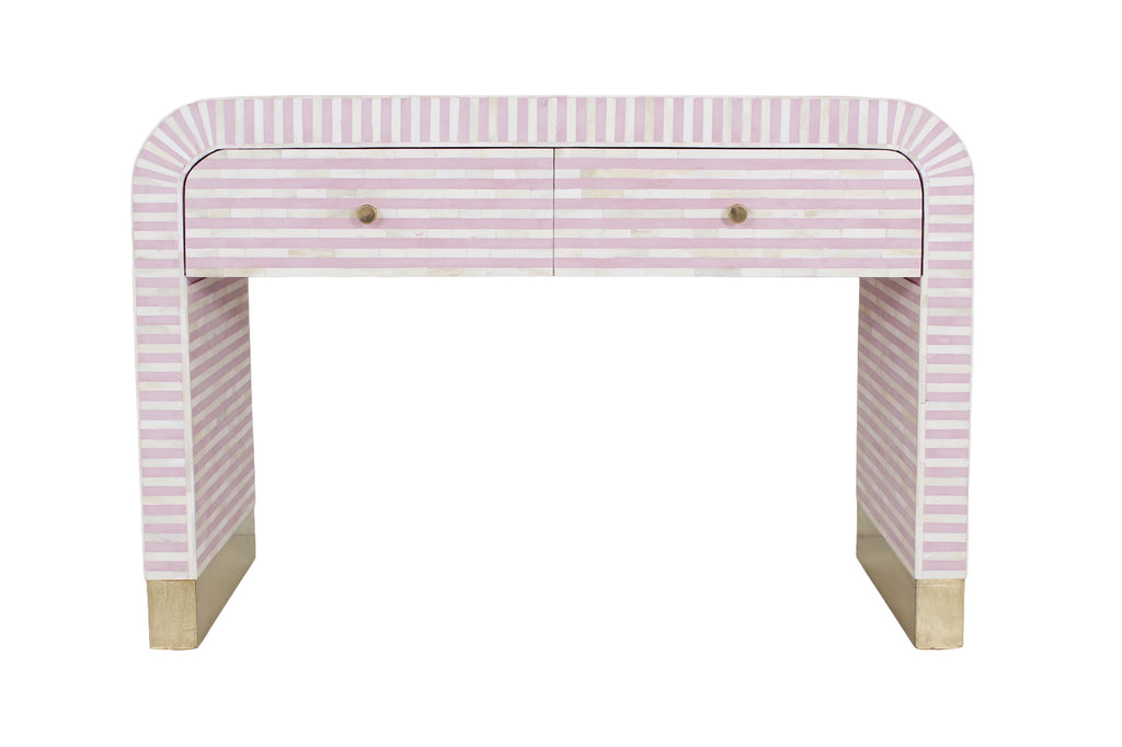 Waterfall Console with drawer - Pink
