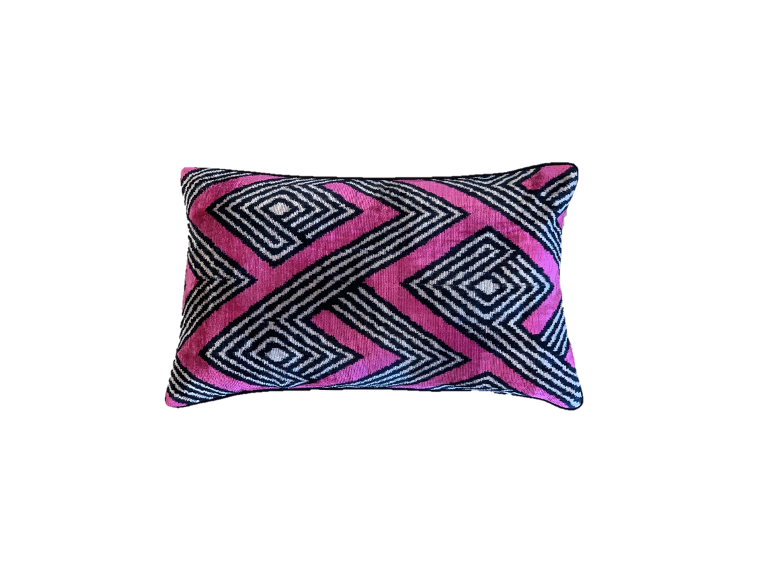 Nobu Cushion - Silk Velvet - Jazz Fuchsia
