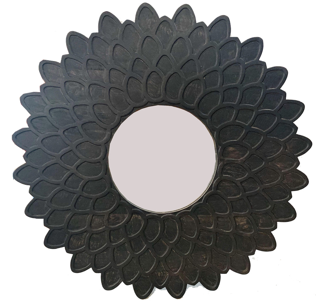 Carved Flower Mirror
