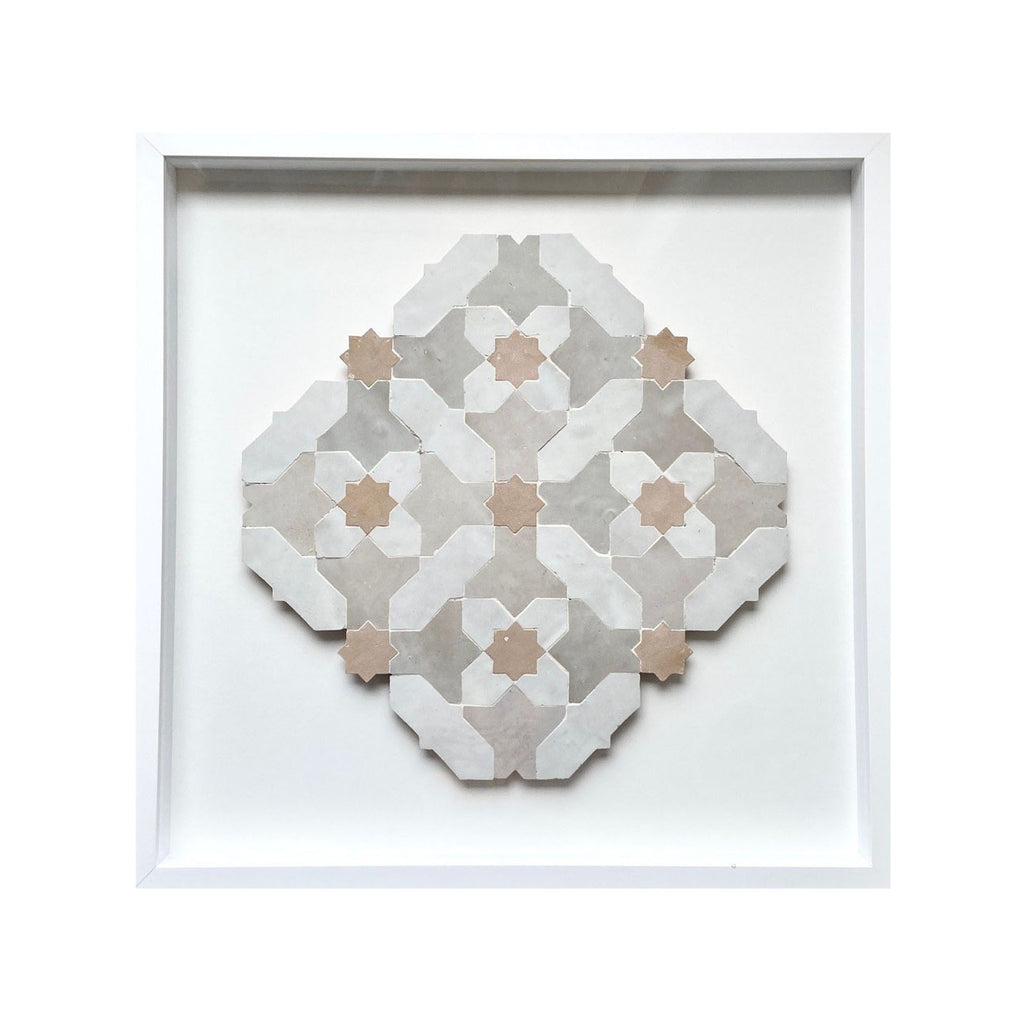 Moroccan Mosaic 'Dust & Clay' I by Tilesofezra