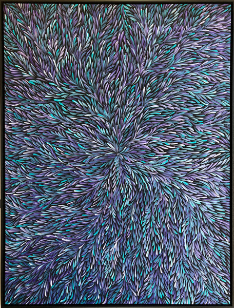 Patricia Kamara Bush Medicine Leaves (Blue)