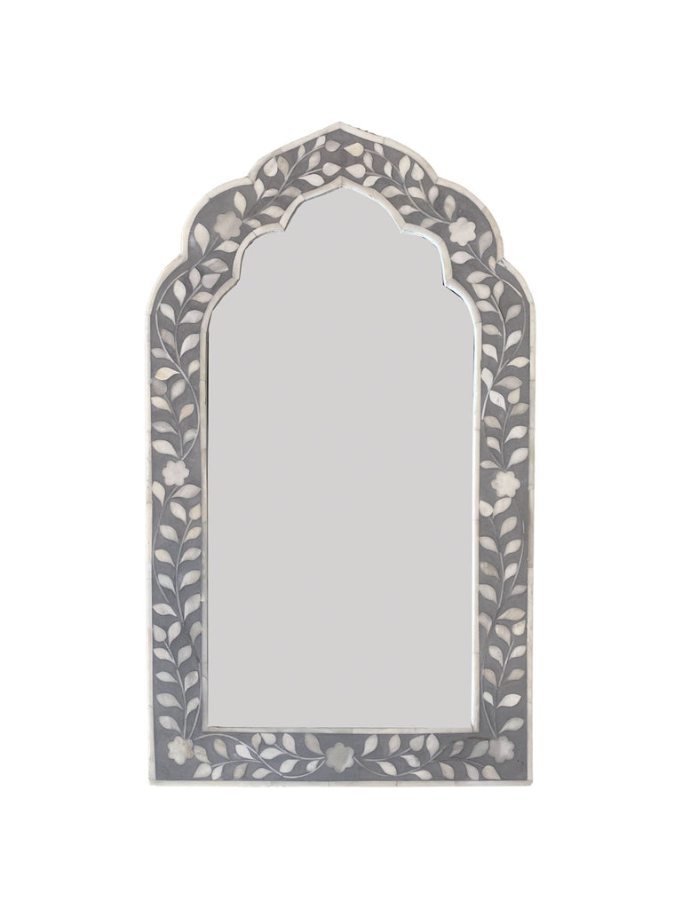 Halle Inlay Mirror - Grey