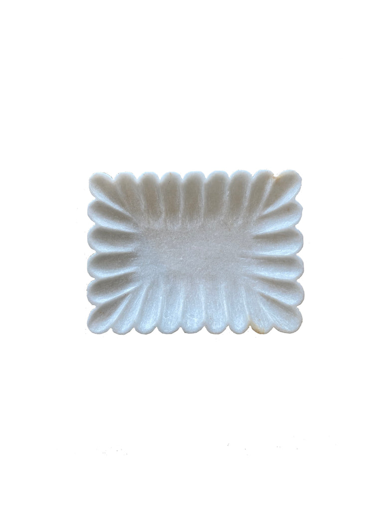 Marble Dish - scalloped