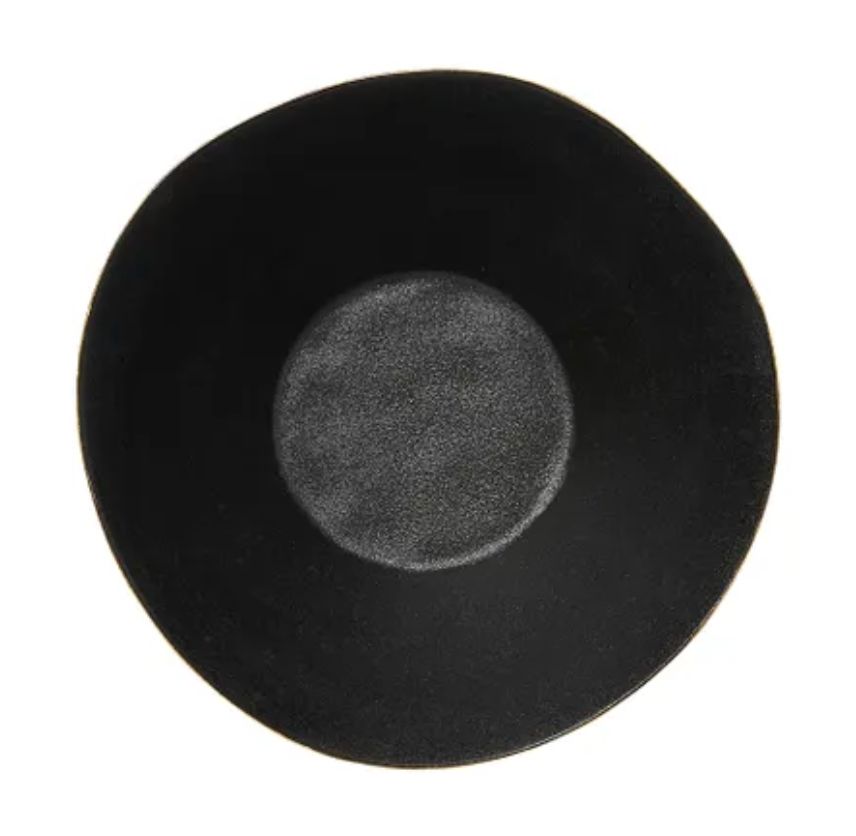 Black Ceramic Salad Bowl