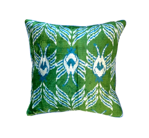 Nobu Cushion - Silk Velvet - Fern