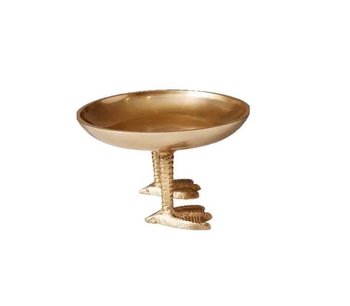 Duck Feet Dish in Brass Finish