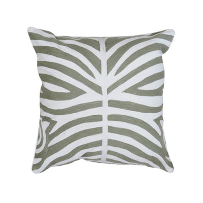 Zebra Cushion - Olive