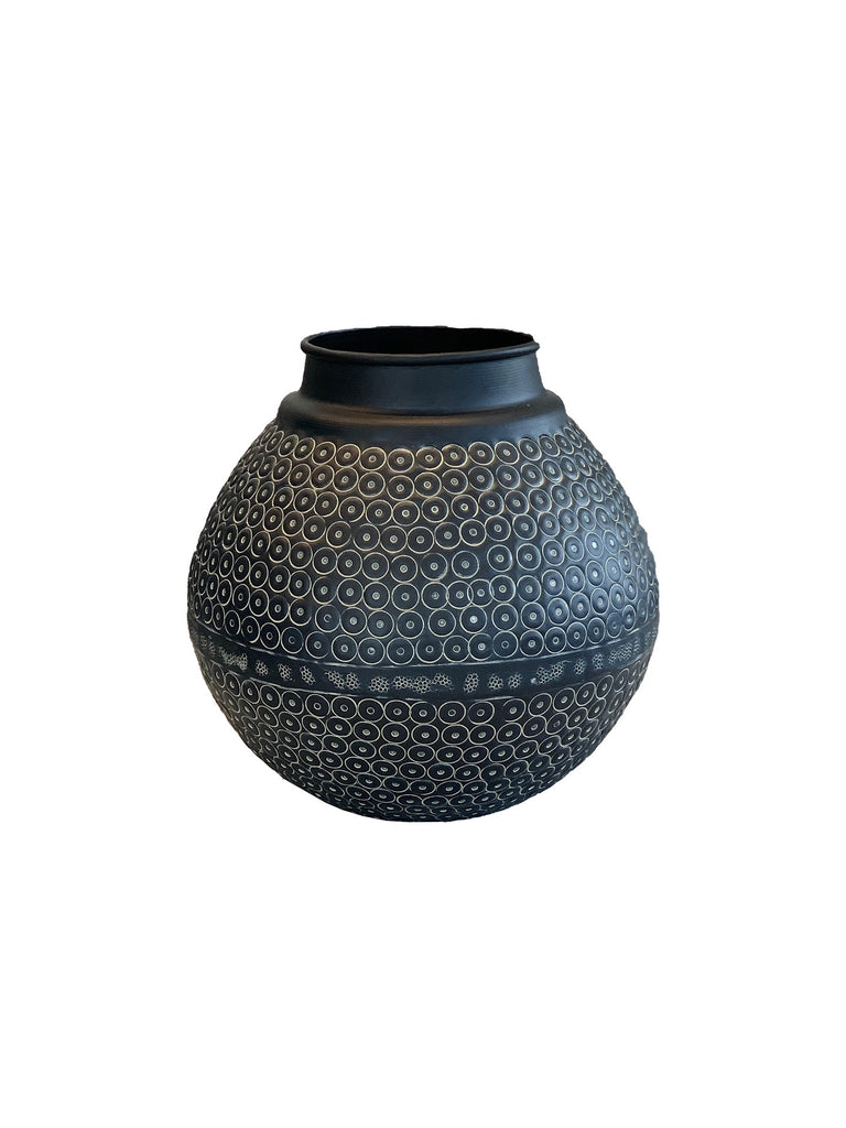 Oxidised Bauble Vase