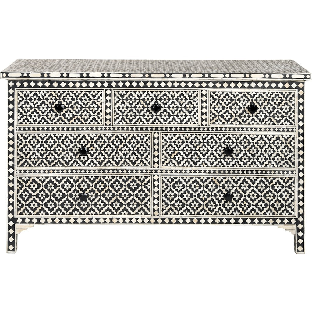 Bone Inlay 7 drawer chest - Wallpaper Media 1 of 4