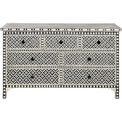 Bone Inlay 7 drawer chest - Wallpaper