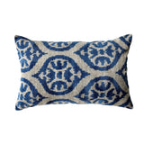 Blue/Grey Vintage Silk & Velvet Cushion