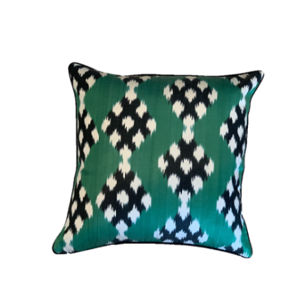 Nobu Cushion - Silk - Emerald Diamond