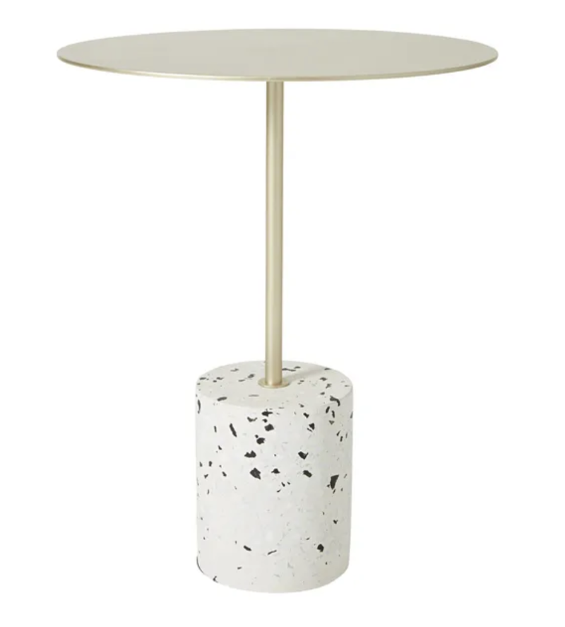Terrazzo and Brass Side Table