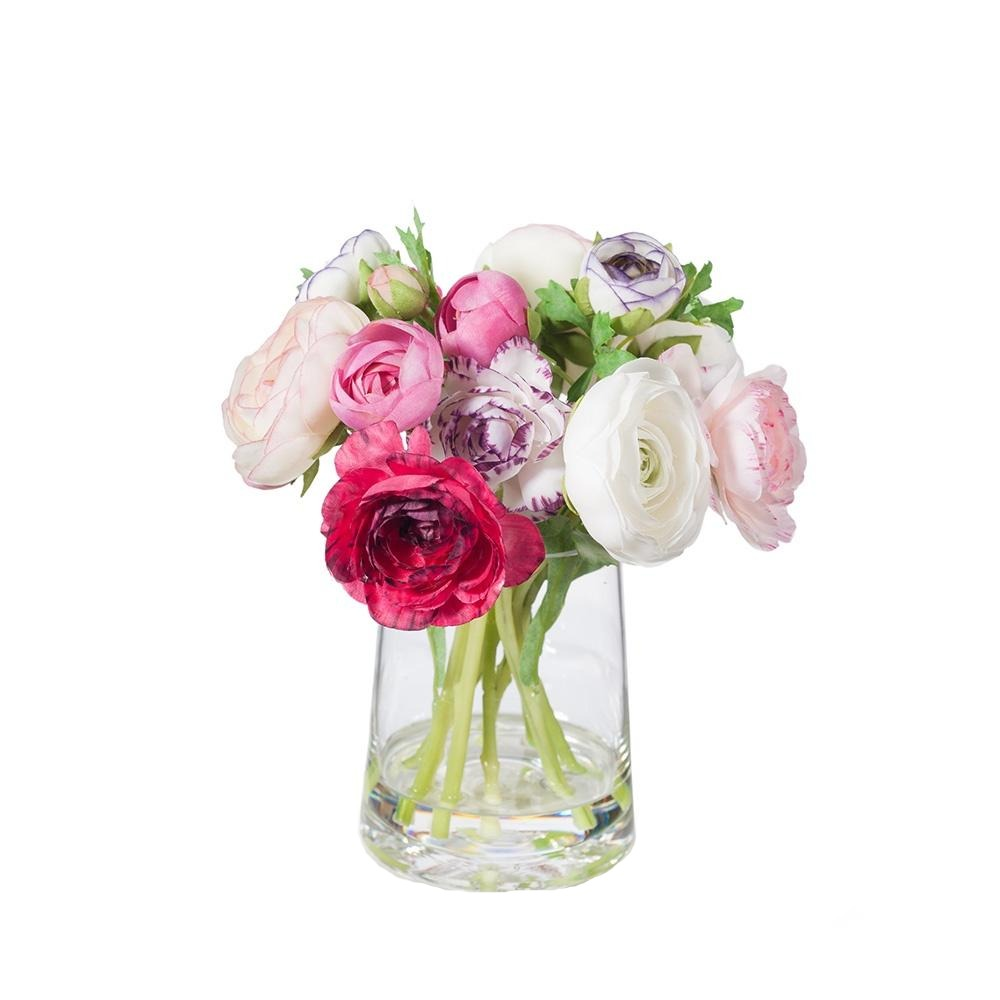 Ranunculus Mix in Vase faux fake flowers