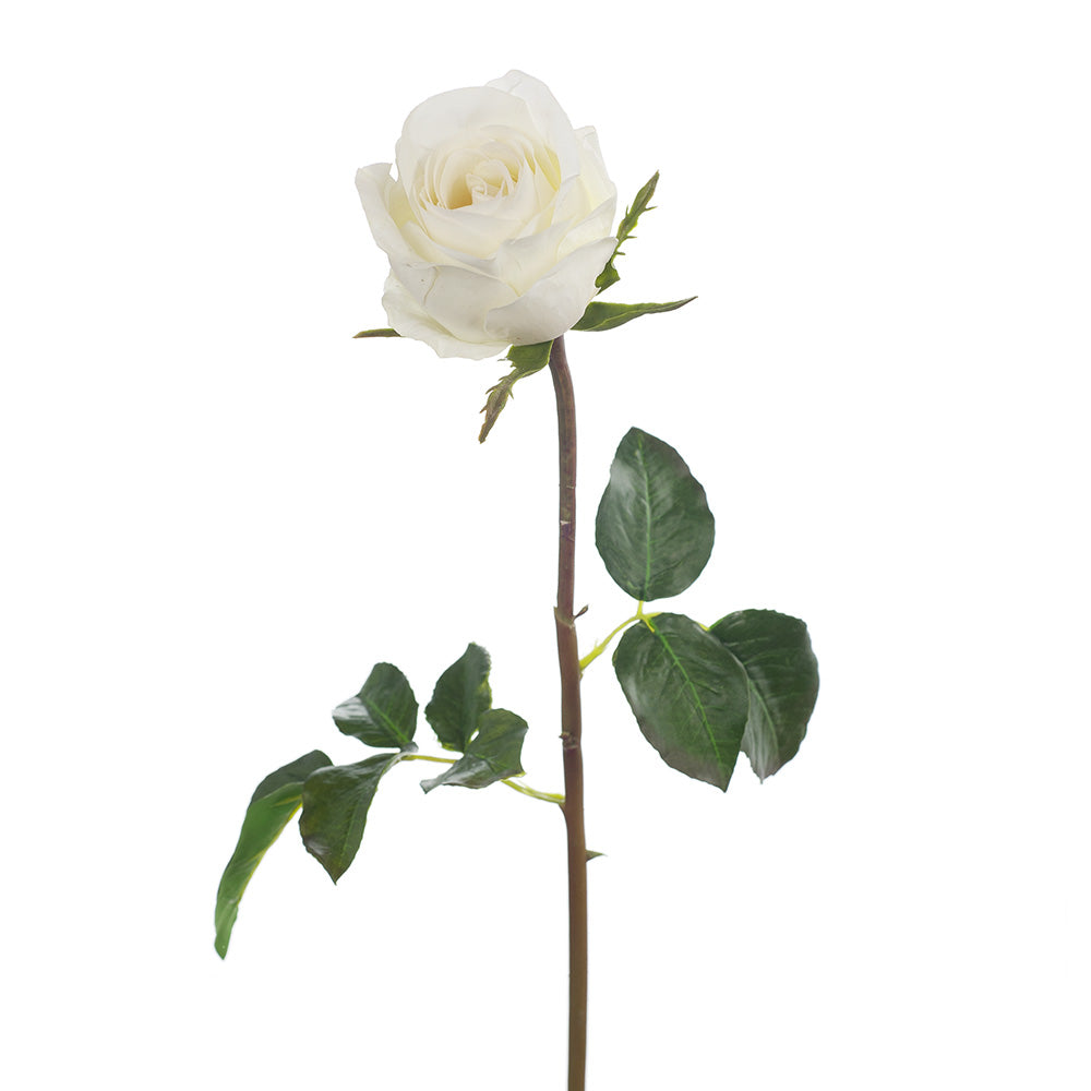 Single Stem Rose fake faux plant