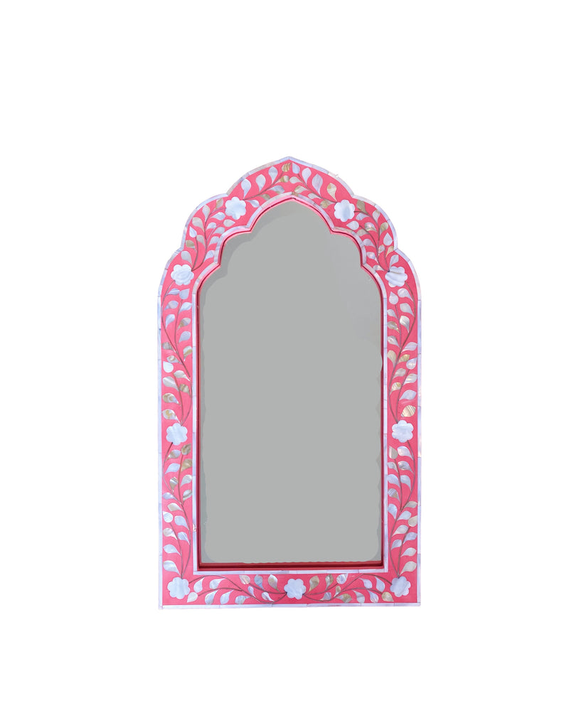 Halle Inlay Mirror - Watermelon