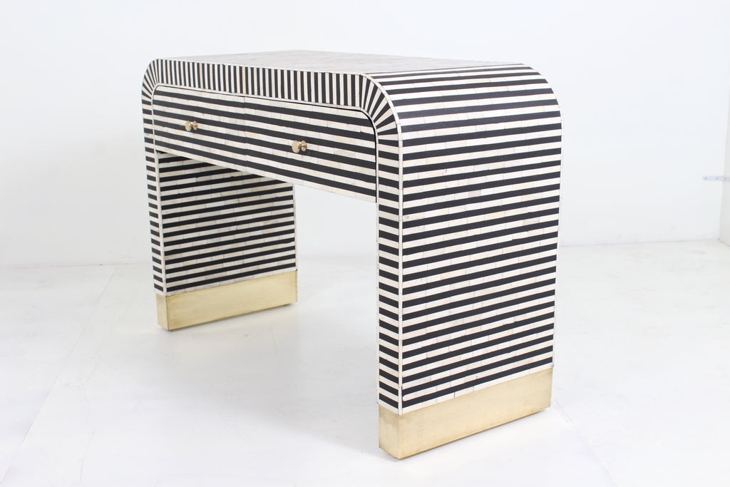 Waterfall Console with drawer - Black