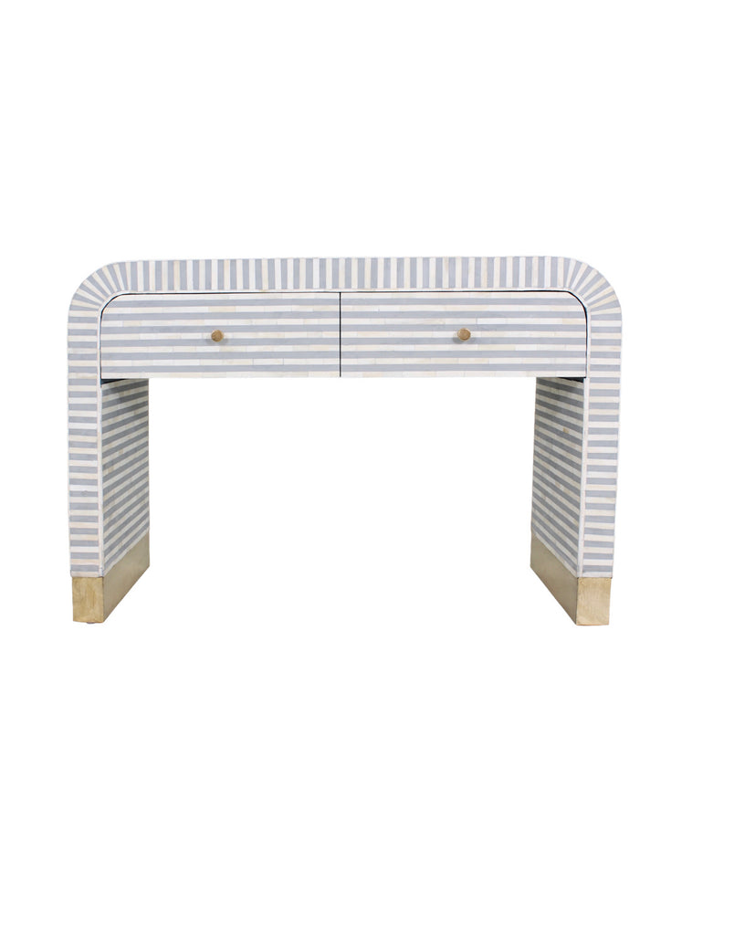 Waterfall Console with drawer - Grey