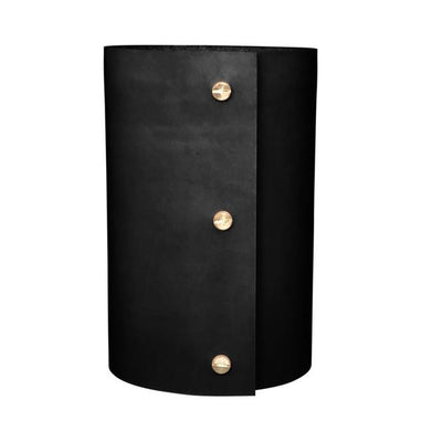 Leather Vase - Black