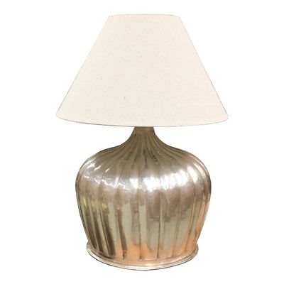 Silver Pumpkin Lamp