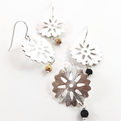 Silver Wheel Earrings