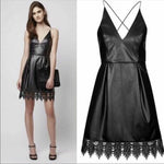Topshop Leatherette Crochet dress 4