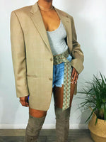 Oversized Checker Blazer
