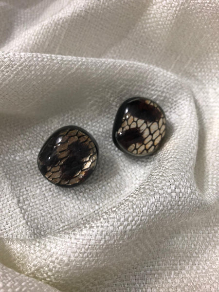 Vintage Reptile Clip-on Earrings
