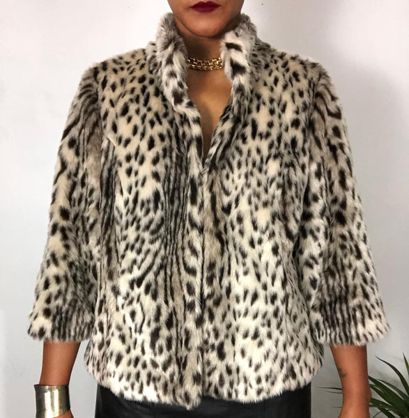 Chico's Cheetah Faux Fur Coat
