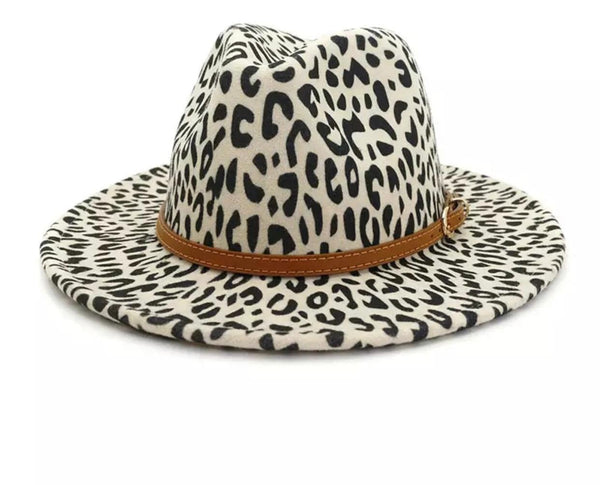White Cheetah Fedora
