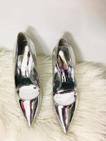 Silver Mirror Nine West Pumps 7.5