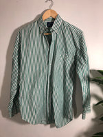 Striped Button Up (Green) - L