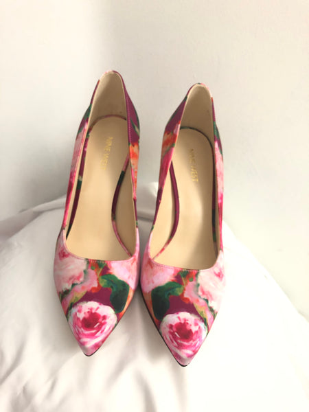 Floral Satin Pumps 9