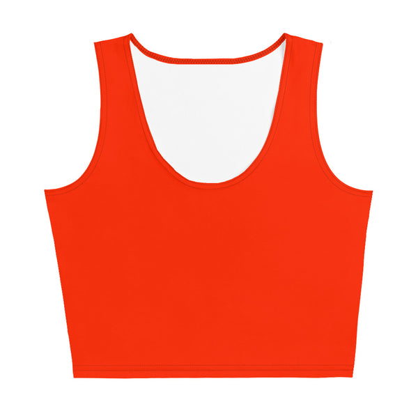 Crop Top - Fire Engine Red