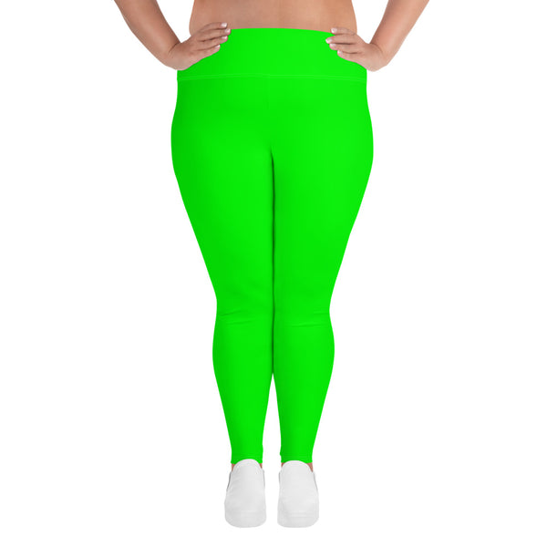 Curvy Babe Yoga Leggings - Lime