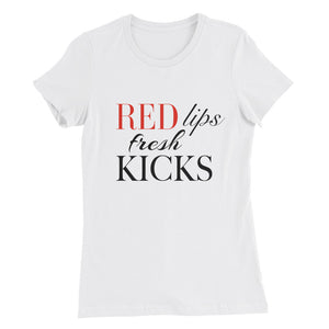 Red Lips Fitted T-Shirt