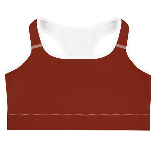 Lotus Sports bra - Dark Red