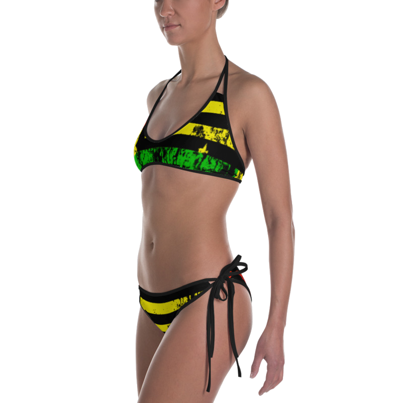 Reversible Bikini - Motherland Flag/Lemon