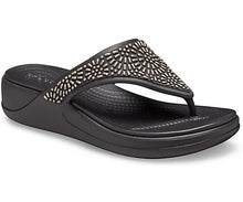 Load image into Gallery viewer, Crocs Monterey Diamante Wedge Flip W