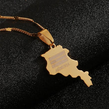 Load image into Gallery viewer, Armenian Map Necklace