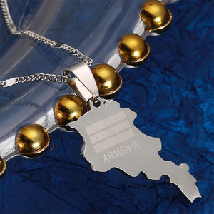 Armenian Map Necklace