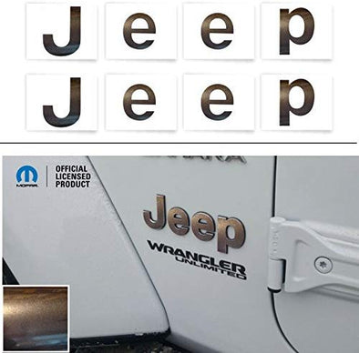 JEEP Fender Emblem Overlay Decal Stickers - 2018+ Wrangler JL