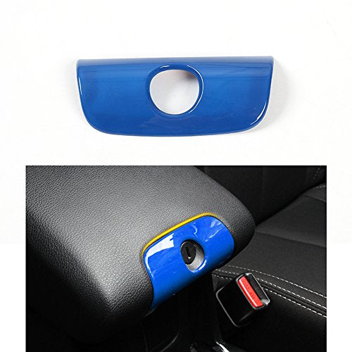 Blue Trim Kit Cup Holder Trim, Armrest Box Lock Decoration & Handbrake Cover